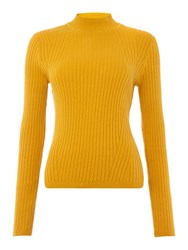 Therapy Isabel Long Sleeve Rib Detail Jumper Mustard Yellow
