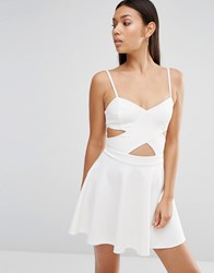 Wyldr In Love Cut Out Skater Dress Cream
