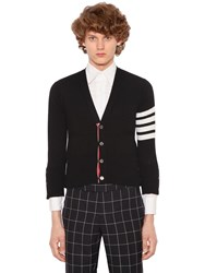 Thom Browne Intarsia Stripes Cashmere Short Cardigan