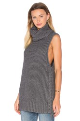 Autumn Cashmere Lace Up Sweater Gray