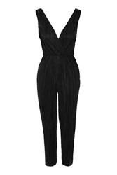 Plunge Front Jumpsuit By Oh My Love Black