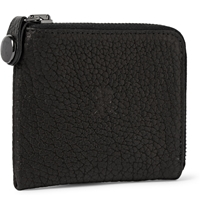 Parabellum Courier Zip Around Leather Wallet Black