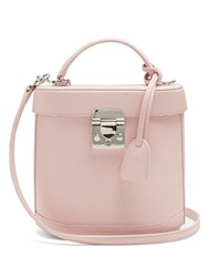 Mark Cross Benchley Grained Leather Shoulder Bag Light Pink