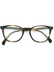 Oliver Peoples 'Finley' Glasses Unisex Acetate One Size Brown