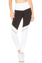 Beach Riot Lacy Legging Black And White