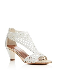 Donald J Pliner Verona Woven T Strap Open Toe Sandals White