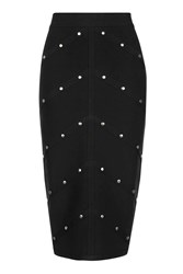Topshop Bandage Studded Skirt Black
