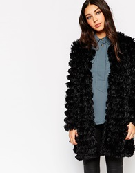Traffic People Shaggy Fur Coat Black