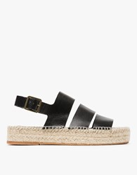 Loeffler Randall Three Strap Flatform In Black