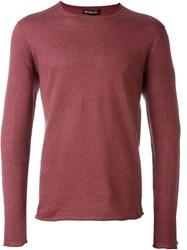 Michael Kors Crew Neck Jumper Pink And Purple