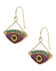 Katerina Psoma Earrings Dark Blue
