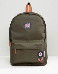 Lambretta Backpack Military With Badges In Khkai Green