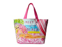 Lilly Pulitzer Beach Tote Hubba Bubba Tote Handbags Pink
