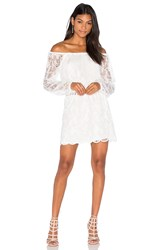 Nightcap Dentelle Off Shoulder Dress White