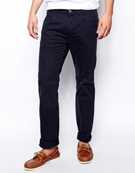 Esprit Straight Fit Trousers In Lightweight Navy