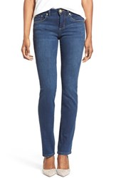 Petite Women's Jag Jeans 'Patton' Stretch Straight Leg Jeans Blue Shadow