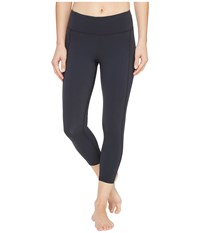 2Xu Active Compression 7 8 Tights Dark Charcoal Silver Women's Workout Black