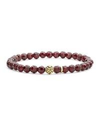 Lagos Caviar Icon Garnet Bracelet With 18K Gold Caviar Station Red Gold