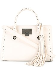 Jimmy Choo Studded 'Riley' Tote Bag Nude Neutrals