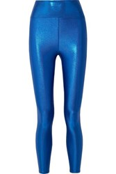 Heroine Sport Marvel Metallic Stretch Leggings Bright Blue