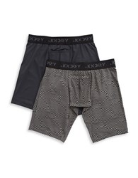 Jockey Two Pack Sport Microfiber Performance Midway Boxer Brief Assorted Grey