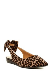 J. Renee Blanche Leopard Print Slingback Flat Wide Width Available Brown