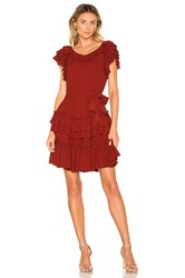 Marissa Webb Elio Crepe Mini Dress Burgundy