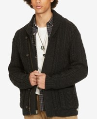 Denim And Supply Ralph Lauren Men's Shawl Collar Full Zip Cardigan Black