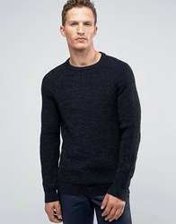 Jack And Jones Premium Slim Ribbed Jumper Navy Blazer
