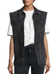 Alexander Wang Daze Faded Denim Vest Black Fade