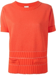 Maison Ullens Ribbed Detail Knit Top