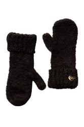 Betsey Johnson Fuzzy Logic Mitten Black