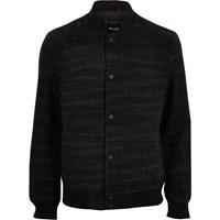 Only And Sons River Island Mens Black Woven Bomber Jacket