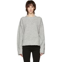 Alexander Wang T By Grey Exaggerated Pilling Pullover Sweater