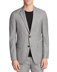 Theory Norwood Micro Houndstooth Slim Fit Sport Coat Dk Grey Black