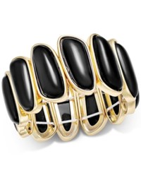 Charter Club Gold Tone Colored Shell Bracelet Only At Macy's Black