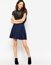 Pieces Skater Skirt Blue