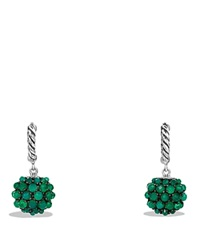 David Yurman Earrings With Green Onyx Green Silver