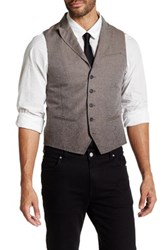 John Varvatos Peak Lapel Vest Green