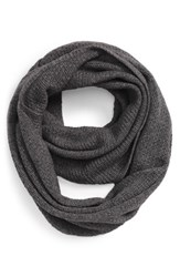 Women's Halogen Pointelle Knit Wool And Cashmere Infinity Scarf Grey Grey Medium Charcoal Heather