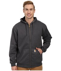 Carhartt Rain Defender Rutland Thermal Lined Hooded Zip Front Sweatshirt 3Xl 4Xl Carbon Heather Men's Sweatshirt Gray