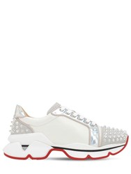 Christian Louboutin 30Mm Vrs 2018 Spiked Leather Sneakers White