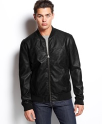Levi's Faux Leather Varsity Bomber Jacket Black