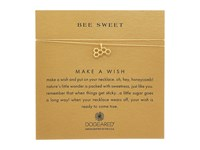 Dogeared Bee Sweet Honeycomb Make A Wish Thread Necklace Gold Dipped Gold Necklace