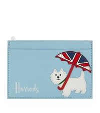 Harrods Westie Leather Card Holder Unisex