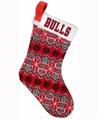 Forever Collectibles Chicago Bulls Ugly Sweater Knit Team Stocking Red