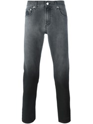 Alexander Mcqueen Degrade Slim Fit Jeans Black