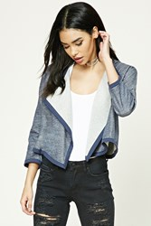Forever 21 Marled Draped Front Cardigan