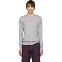 Givenchy Grey Distressed Knit Sweater