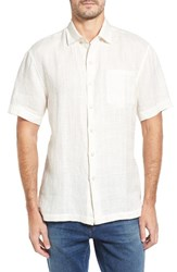 Tommy Bahama Men's Big And Tall The Big Bossa Linen Sport Shirt Marble Cream